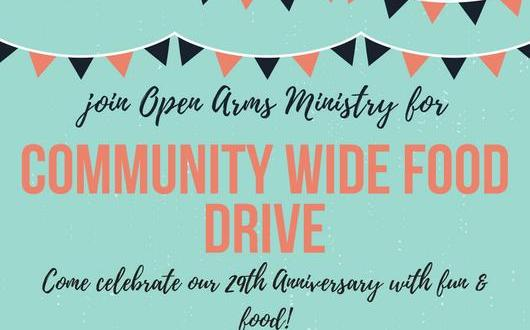 Open Arms Ministry holding Food Drive Saturday