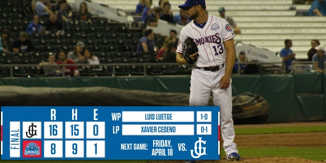 Smokies lose game, series to Jackson, 16-8