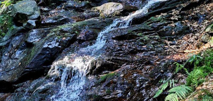 Páteční vodopády na zboczach szczytu Červená hora [WYSOKI JESIONIK]