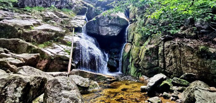 Wodospad Czarnego Potoku w Górach Izerskich