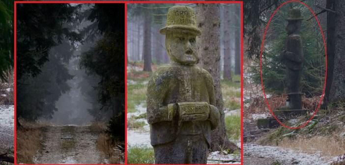 Tajemniczy posąg z lasów Gór Bystrzyckich. Kim jest Strażnik Wieczności? Skąd się wziął?