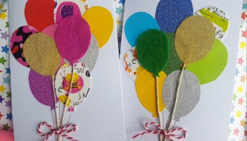 Birthday cards with balloons