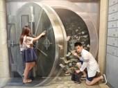 Bank heist in action!