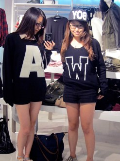 Found A & W sweaters at F21. We both didn't buy though...