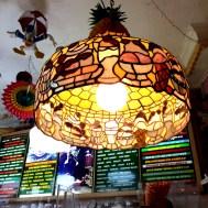 Vintage looking sundae themed lamp