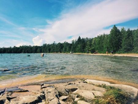Lakeside view at Bruce Peninsula National Park