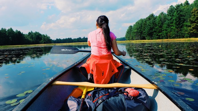 """My dream """"canoe"""" shot."""