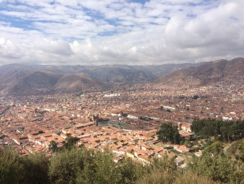 View of Cusco from Cristo Blanco