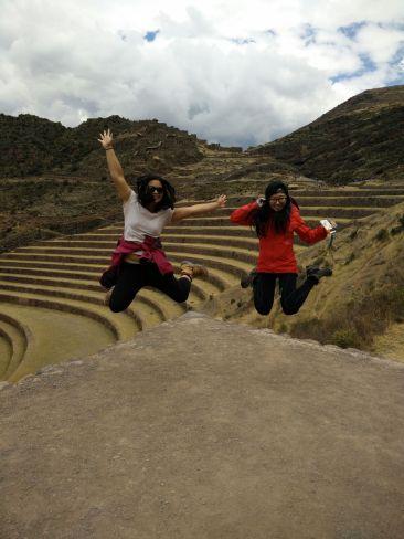 Jumping at the Pisac Ruins