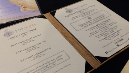 The tasting menu on the right is what we got.