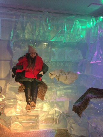 Getting ready on my ice throne.