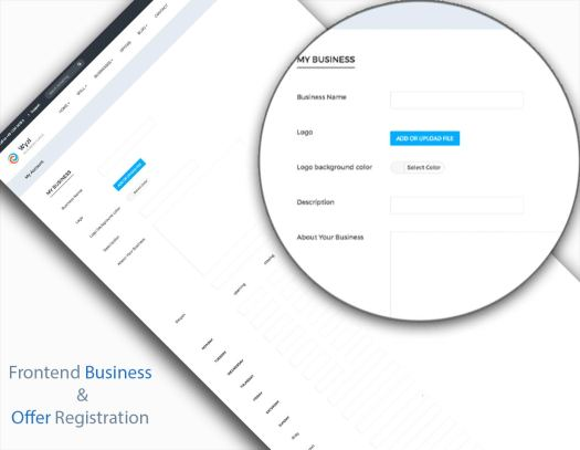 Frontend Business Registration and offers Registration