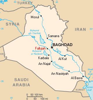 イラク-ファルージャ地図-アメリカンスナイパー
