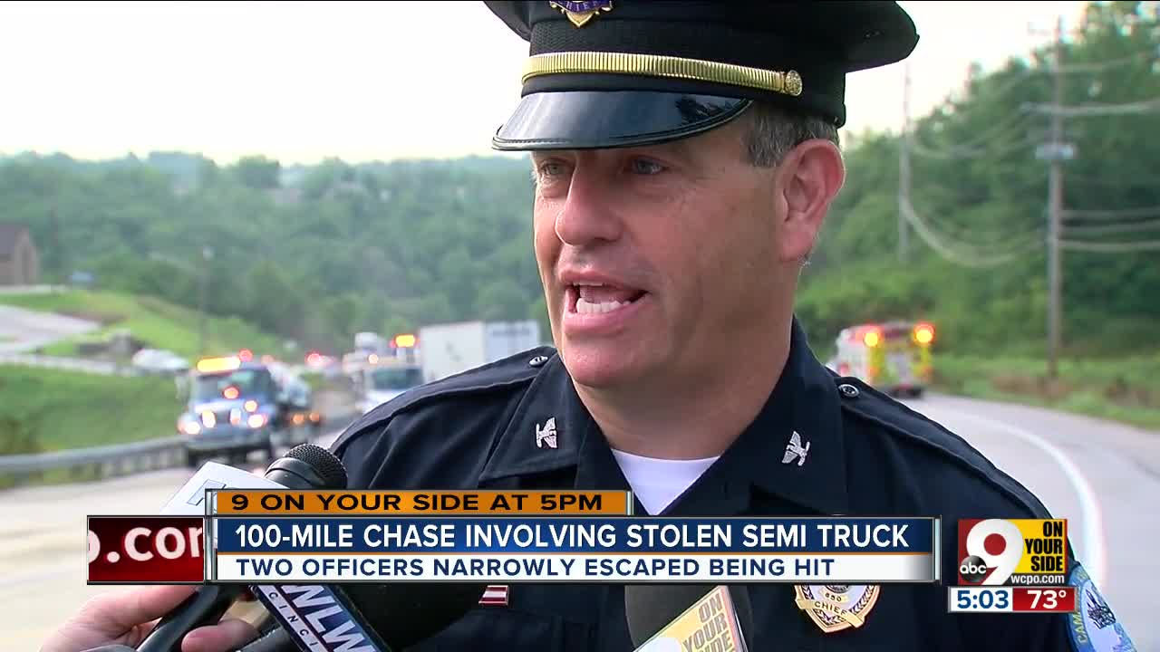 Stolen Semitrailer Driver Leads Police On Chase From Ohio