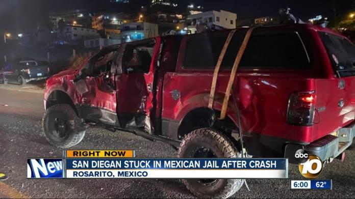 Resultado de imagen de San Diegan stuck in Mexican jail after crashing without insurance
