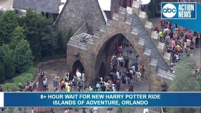 Hagrid Roller Coaster Opens As Harry Potter Fans Take On 10 10 Hour