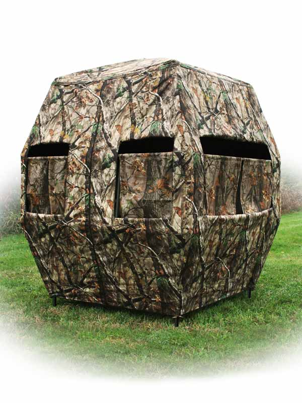 The Kingpin Ground Blind X Stand