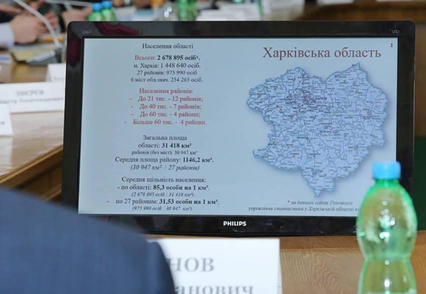 На Харківщині пропонують 7 повітів замість 27 районів