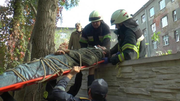 У центрі Харкова чоловік впав з дерева