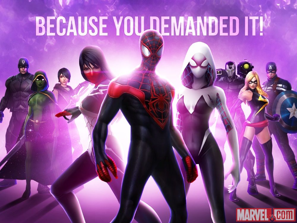marvel future fight silk miles spider-gwen