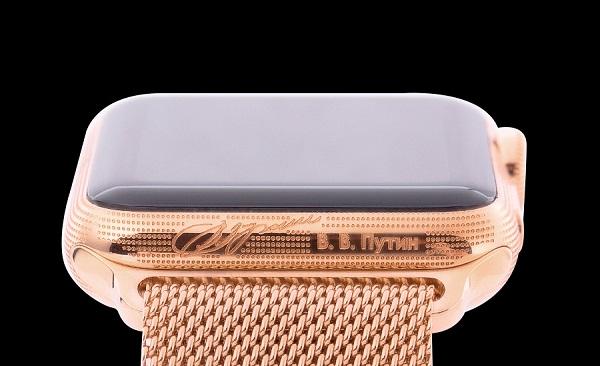 Η υπογραφή του Πούτιν στο επίχρυσο Apple Watch της Caviar