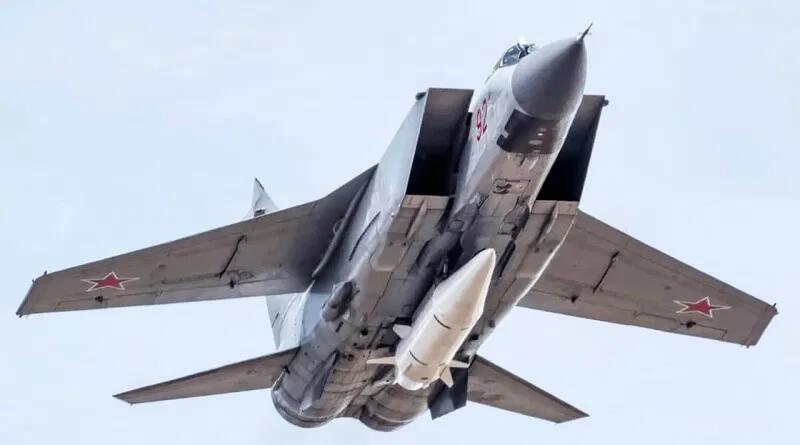 """掛載""""匕首""""導彈的米格-31K戰斗機"""