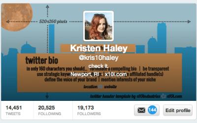 Design a better Twitter profile
