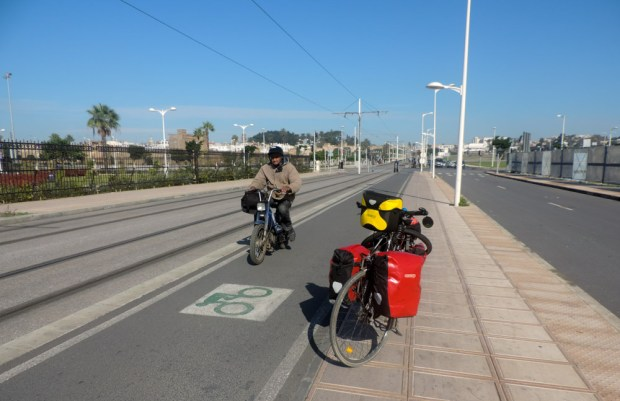 What???? a bike lane in Morocco?