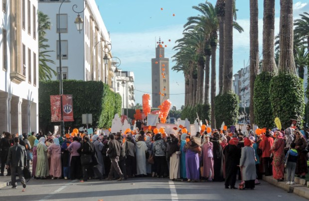 Amnesty International protest in Morocco