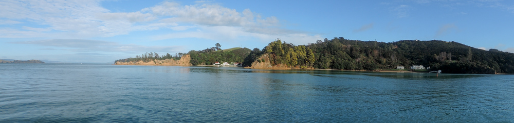 Waiheke shoreline from the boat