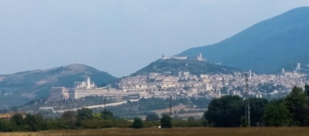Assisi from the approach to Santa Maria degli angeli
