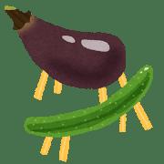 お盆の野菜の飾り
