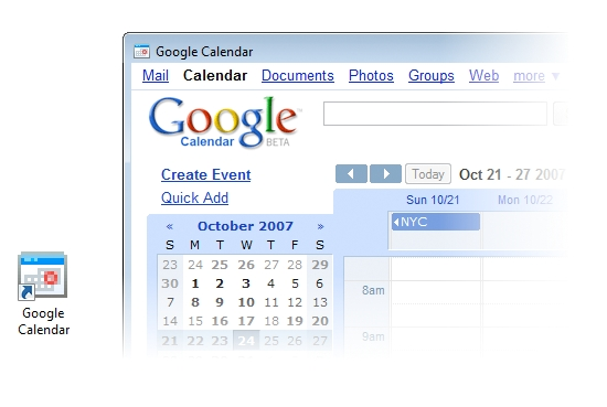 Undocked Google Calendar