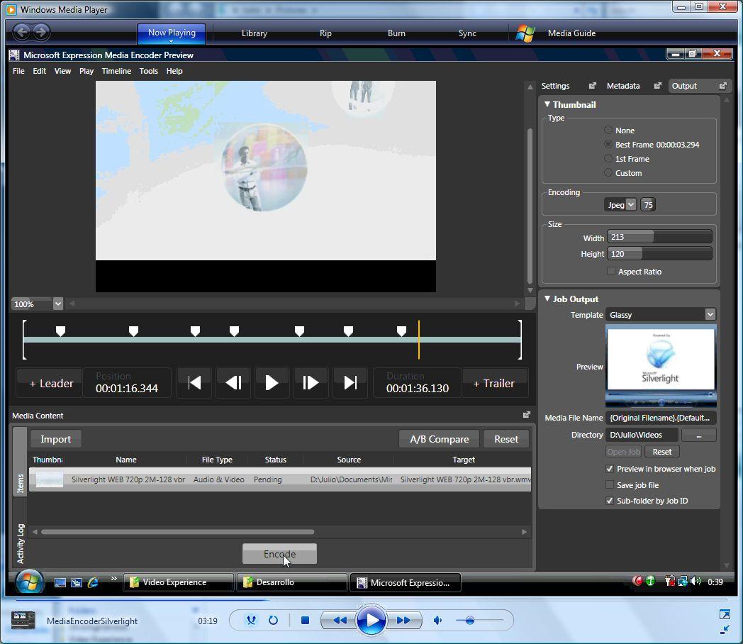 Silverlight Media Encoder