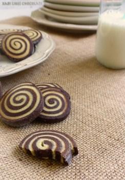 Galletas en forma de espiral