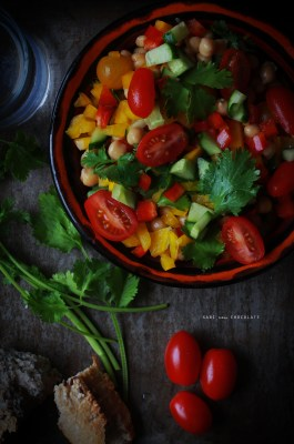 receta ensalada de garbanzos menú semanal