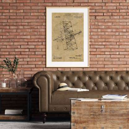 wright brothers patent print