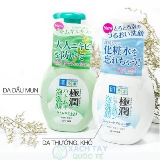 Sữa rửa mặt tạo bọt Hada Labo Gokujyun Foaming Cleanser 160g
