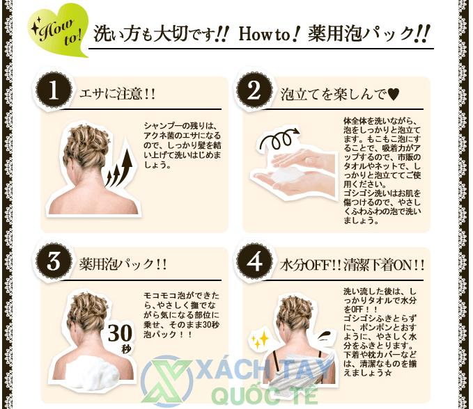 Cách sử dụng Xà phòng Trị Mụn Lưng For BackMedicated Soap 135g