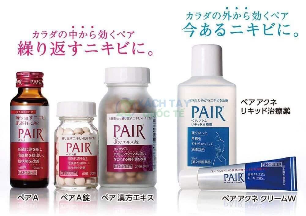 Một số sản phẩm trị mụn Pair của hãng Lion Nhật Bản