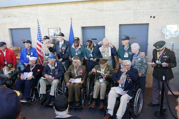 Alguns dos veteranos presentes nas celebrações
