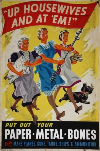 Cartaz incentivando as donas de casa