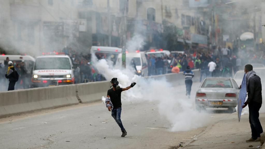 Journée d'affrontements à Qalandiya et à Bethléem — Cisjordanie