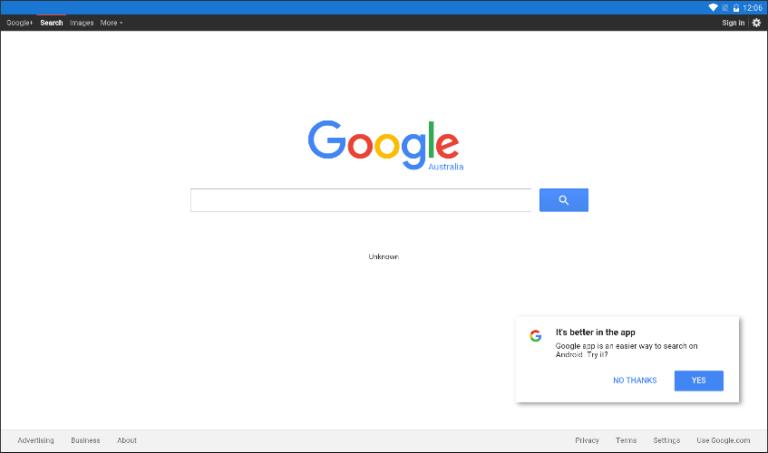 Google в WebView