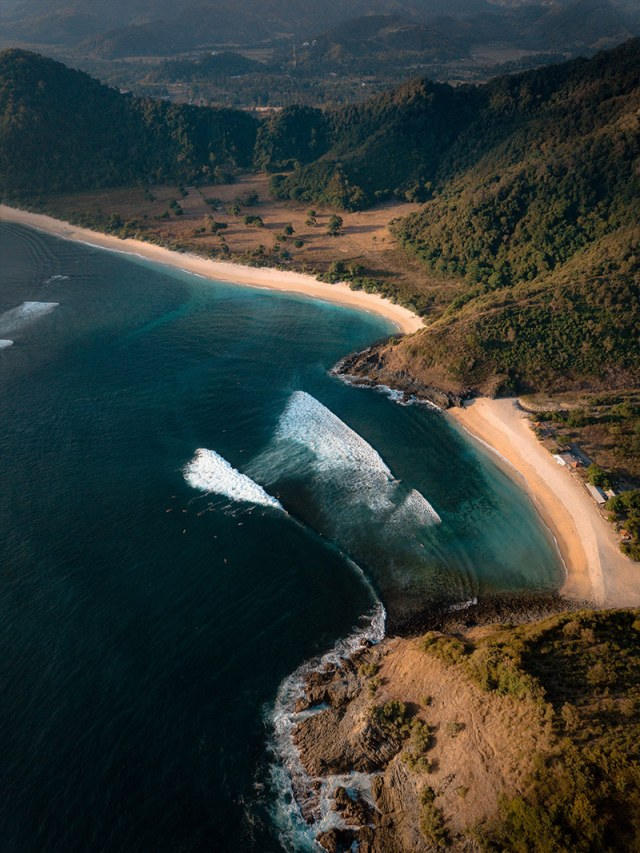 View of Lombok from a flight