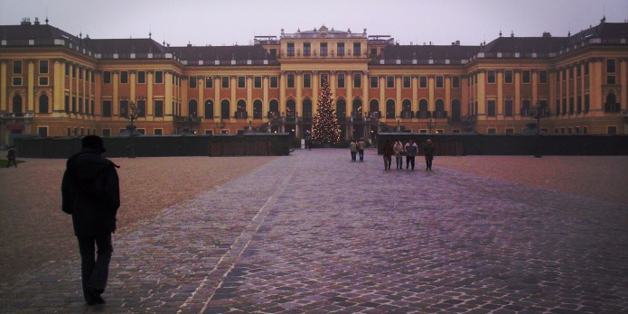 Schonbrunn Palace - my Mom on the left!!!