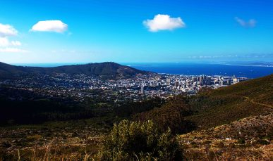 A view over Cape Town (unfortunately not from the top of Table Mountain)