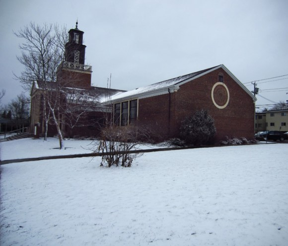 """Unspoilt"" snow in front of a little church!!!"