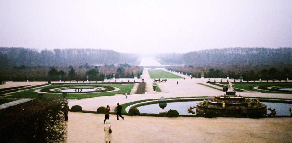 Endless stretch of Versailles gardens...