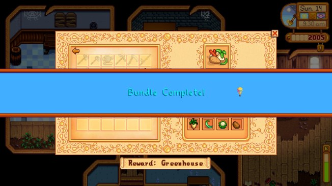 Stardew Valley | Bundle Completed